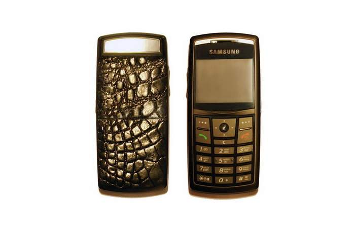 MJ Luxury Mobile Phone - Samsung x820 Crocodile Leather