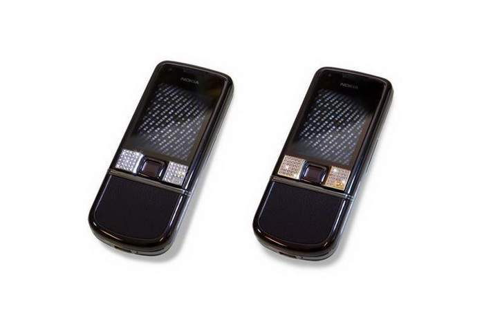 MJ Diamond Phone - Nokia 8800 Black Diamonds (White & Yellow Gold)