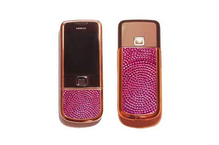 MJ Pink & Red Gold Phone - Nokia 8800 Arte Red Gold Ruby Edition