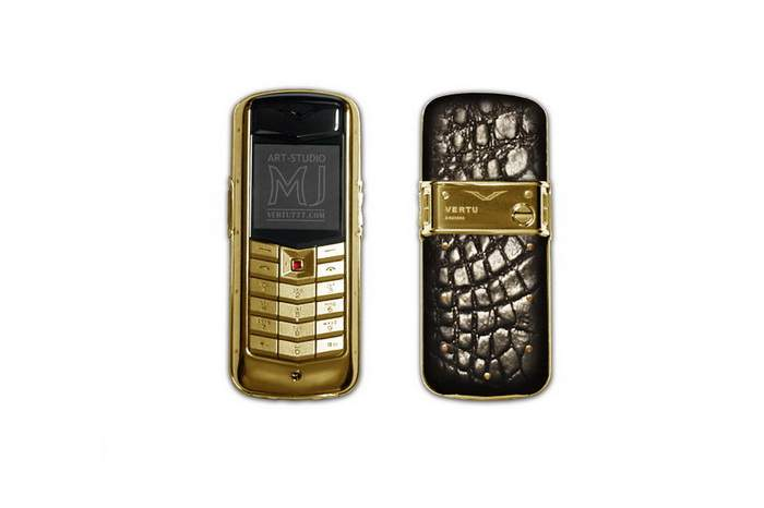 MJ Extra Phone Limited Edition - Vertu Constellation Cayman - Genuine Crocodile