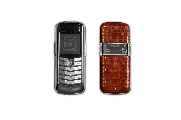 MJ Limited Edition Mobile Phone - Vertu Constellation Iguana Leather