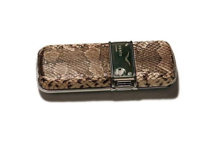 MJ Pompous Mobile Phone - Vertu Princess Style, Original Python Pictures Skin