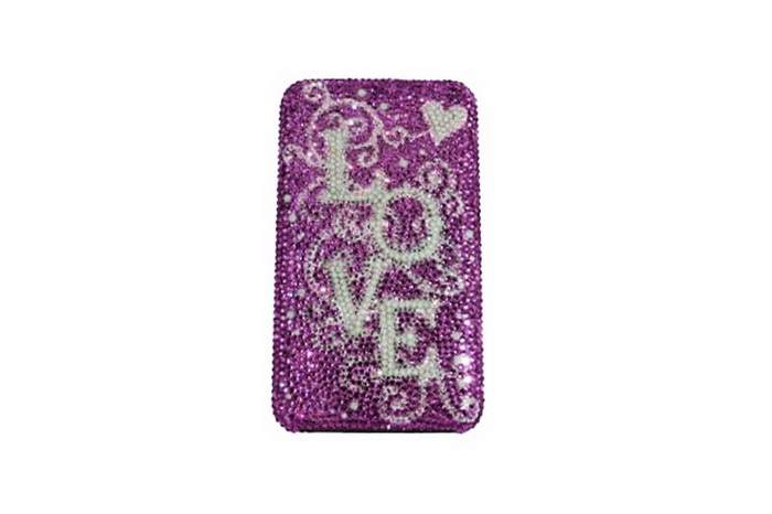MJ Love Mobile Phone - Apple iPhone Pink Swarovski Private Style