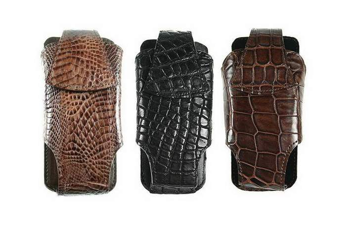 MJ Luxury Mobile Cases - Genuine Exotic Alligator Leather