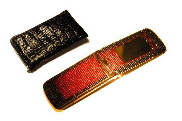MJ Splendor Mobile Phone & Crocodile Case - Motorola Swarovski