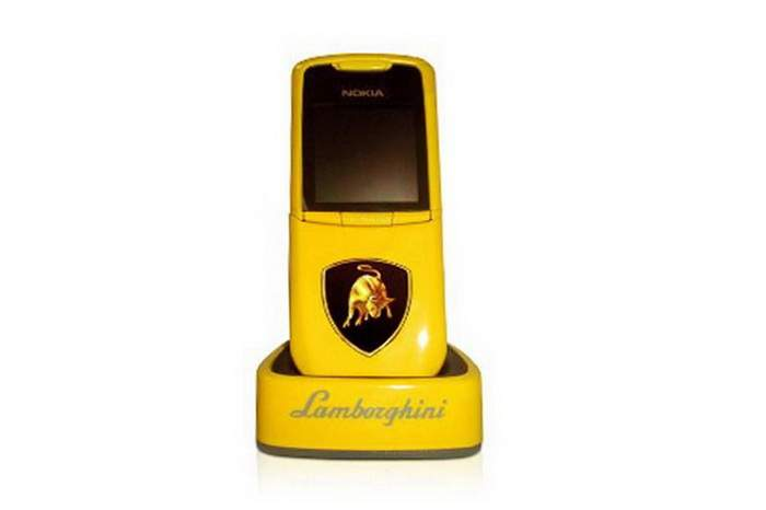 MJ Lamborghini Mobile Phone - Nokia 8800 Acid Yellow Sport Car Edition