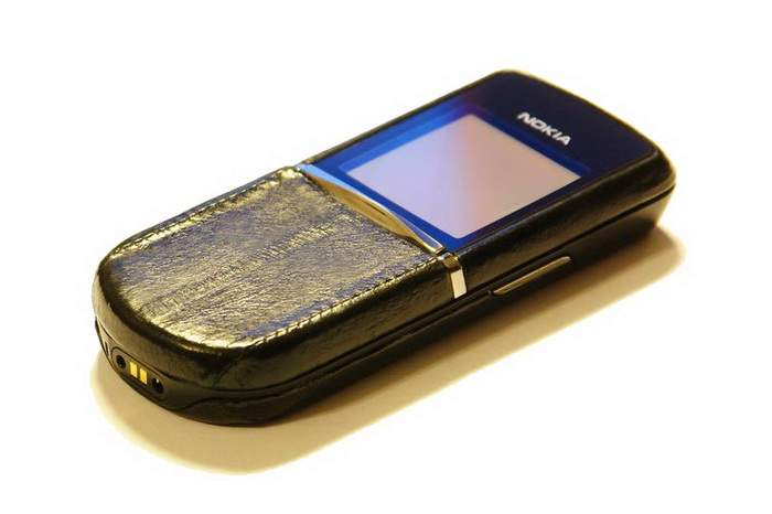 MJ Leather Phone Special Edition - Nokia 8800 Black Sea Eel