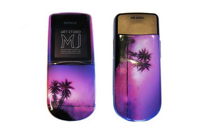 MJ Art-Paint Airbrushing Mobile Phone - Paradise Limited Edition