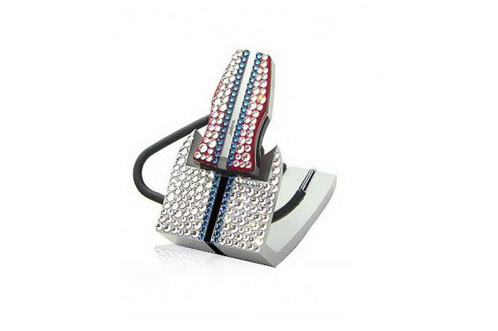 MJ Luxury Handsfree - Bluetooth Radio Headphone Swarovski Crystallized