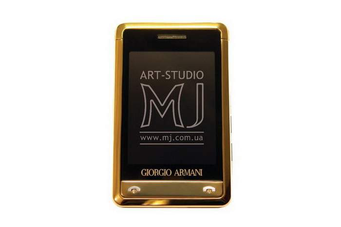 MJ Armani Mobile Phone - Samsung Armani Gold Diamond