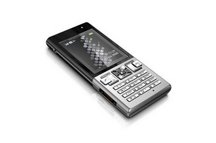 MJ Silver Mobile Phone - Sony Ericsson in Silver Case