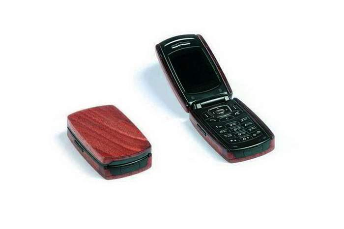 MJ Genuine Wood Phone - Mahogany Bloodwood