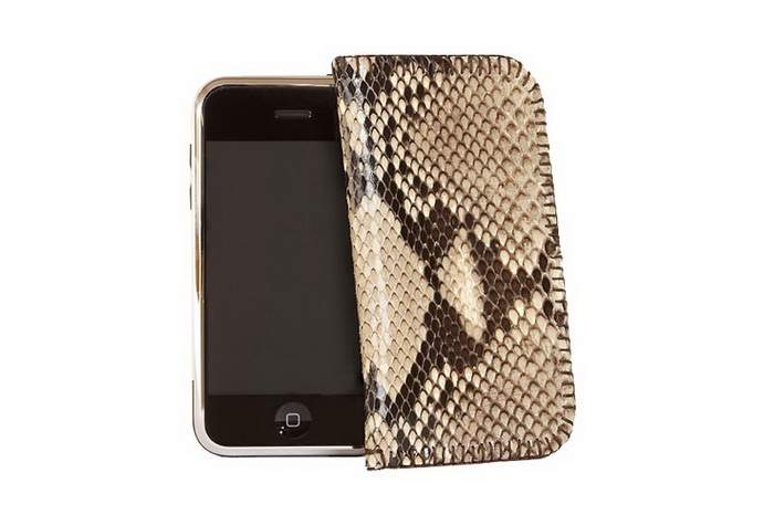 MJ Steel Mobile Phone with Leather Mobile Case - Apple iPhone Cobra Edition
