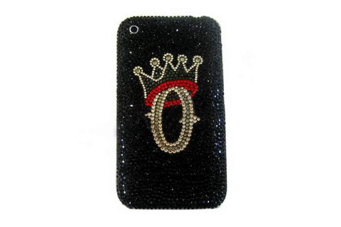 MJ Blink Crystal Mobile Phone - Apple iPhone Inlaid Black Diamond & Crystal Swarovski
