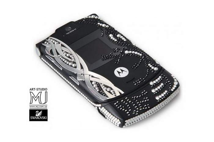 MJ Sumptuousness Mobile Phone - Classic Style, Silver, Crystallized Swarovski